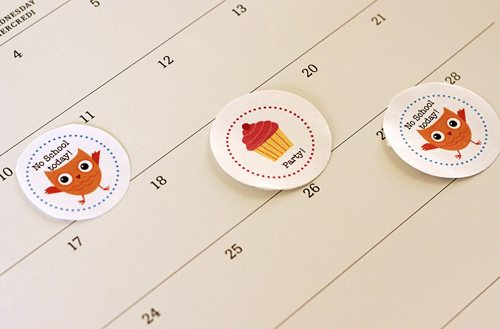School Events Calendar Stickers by alphamom.com