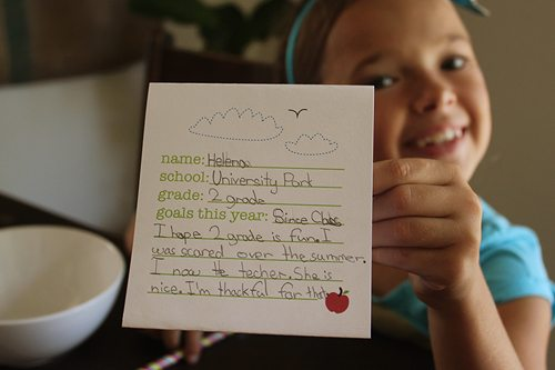 First Day of School Breakfast Celebration Sign