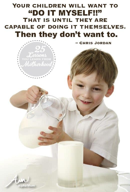 "Your Children will Want to ""Do It Myself!"" Until they are actually capable of it. By Chris Jordan of Alphamom.com"