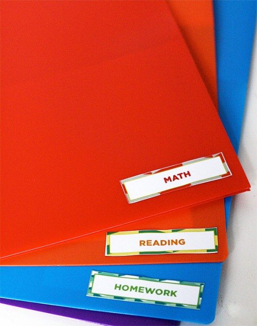 School Papers Organization Labels and Stickers for Back-to-School by SkipToMyLou for Alphamom.com