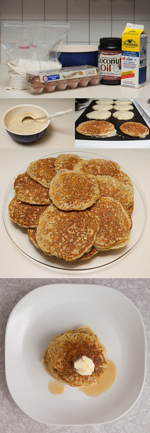 multigrain (and gluten-free) pancakes with chia seeds by Mir Kamin for Alphamom.com