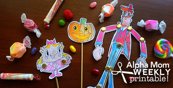 Candy Crush Character Puppets DIY and Printable