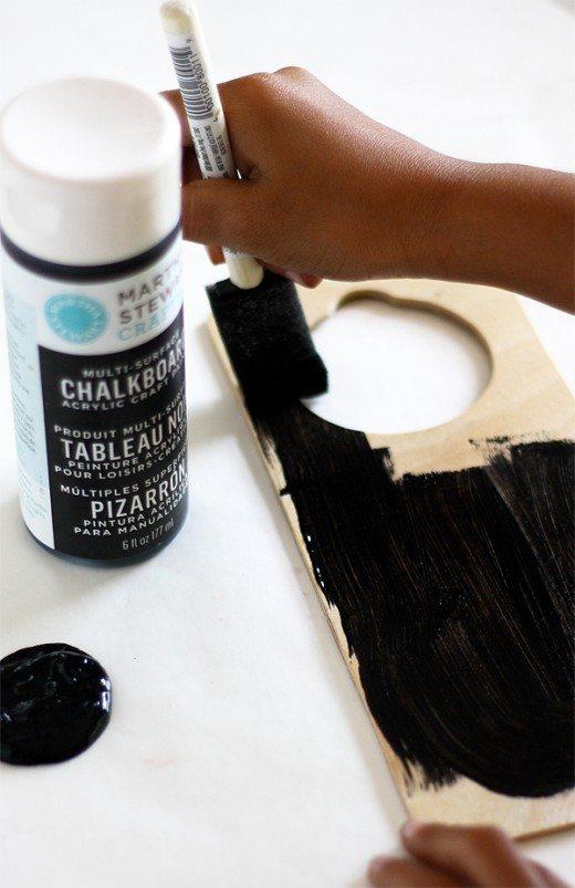 DIY Chalkboard Do Not Disturb Door Hanger tutorial by Cindy Hopper of Skiptomylou.org
