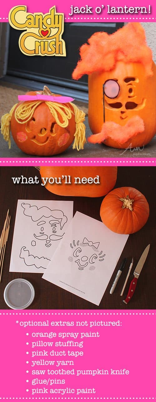 Candy Crush Pumpkins for Halloween by Brenda Ponnay for Alphamom.com
