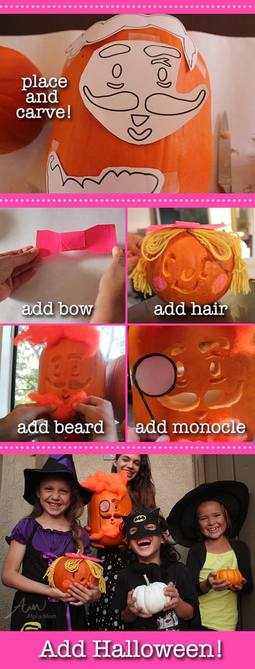 How to Make Candy Crush Pumpkins for Halloween by Brenda Ponnay for Alphamom.com