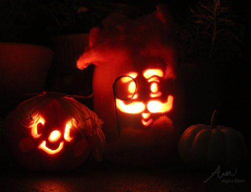 Candy Crush Pumpkins for Halloween (jack-o'lanterns) by Brenda Ponnay for Alphamom.com