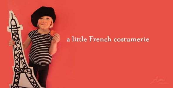 a small child wearing a Une Petite Fille costume