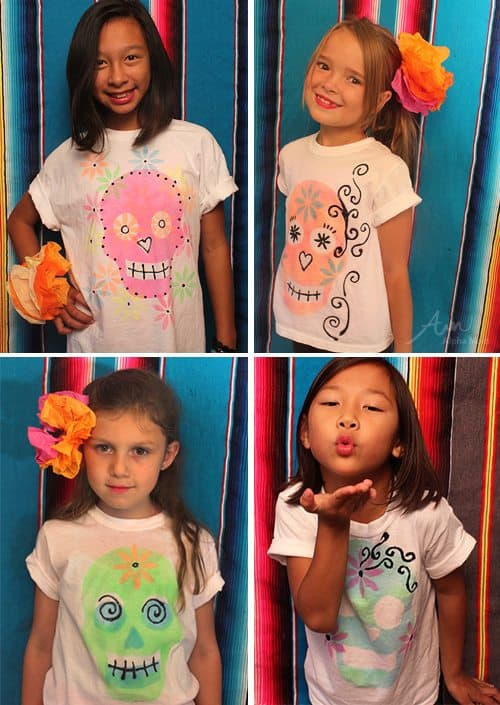 Day of the Dead DIY T-Shirts by Brenda Ponnay for Alphamom.com