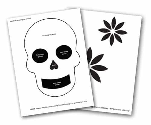 Day Of The Dead Skull Template Printable Day of the dead diy t-shirt