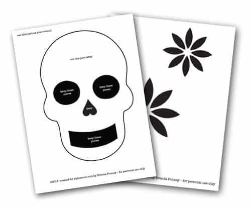 Day of the Dead DIY T-Shirt Stencils  #DiaDeLosMuertos
