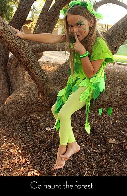 No-Sew Leaf Fairy Costume for kids by Brenda Ponnay for Alphamom.com