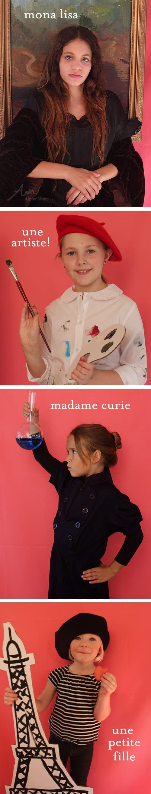 How to Make Kids' French-Inspired Halloween Costumes by Brenda Ponnay for Alphamom.com