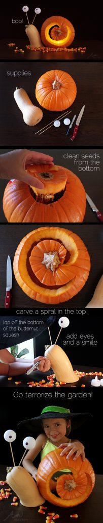 3d snail jack o 39 lantern pumpkin carving tutorial alpha mom for Pumpkin sculpting tutorial