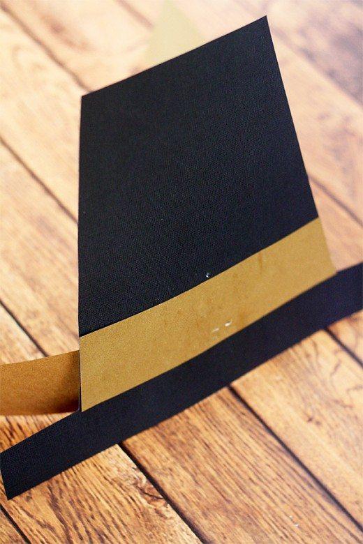 Kids' Pilgrim Hat DIY for Thanksgiving Tutorial (step 4) by Cindy Hopper for @Alphamom.com