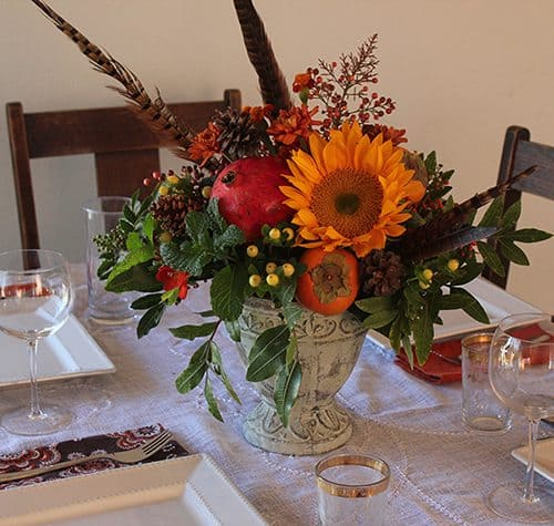 #Thanksgiving Flower Arrangement by Brenda Ponnay for Alphamom.com