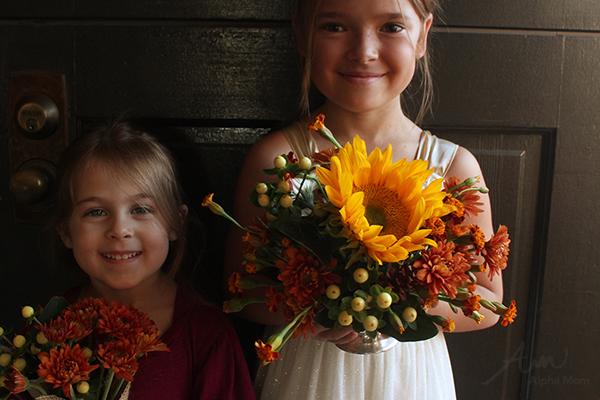 Autumnal Flower Arrangement for Thanksgiving