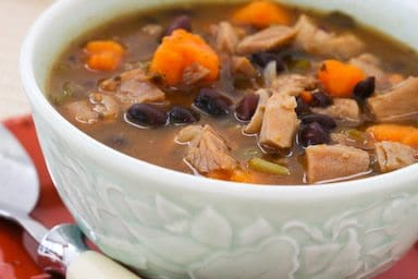 Kalyn's Kitchen's Leftover Turkey And Sweet Potato Soup