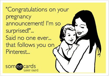 pregnancy annoucements