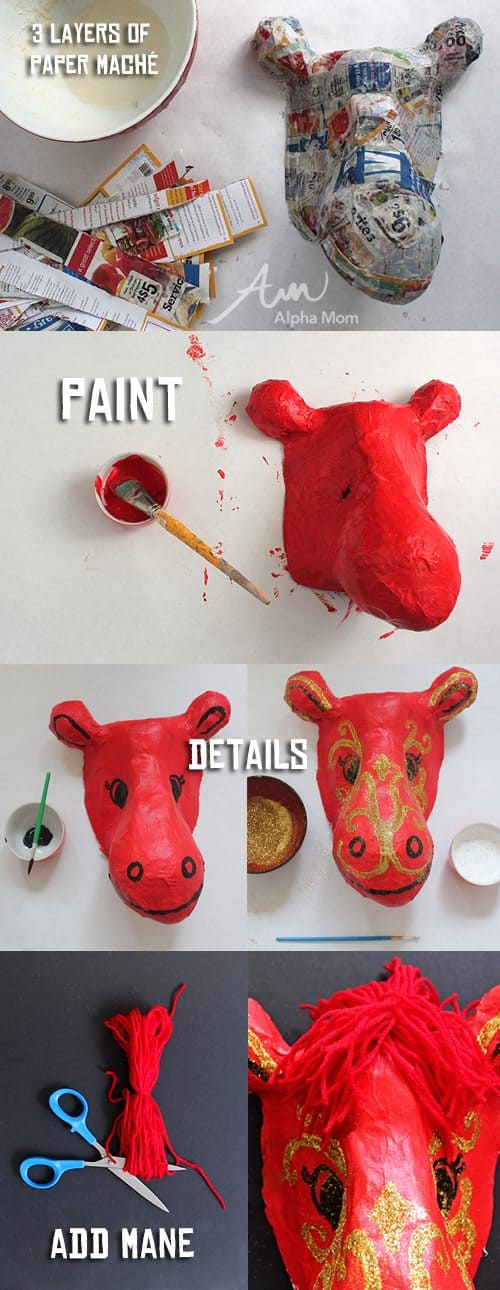 Tutorial for making Year of the Horse mask for Chinese New Year