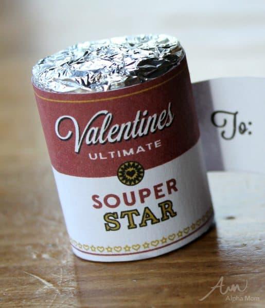 "Close up of ""Souper Star"" Valentine"