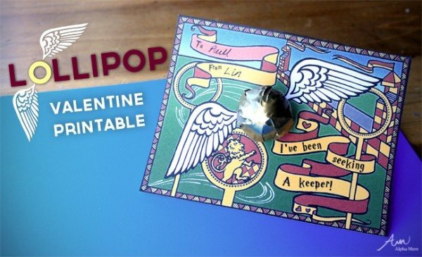 """Golden Snitch"" Lollipop Valentines"
