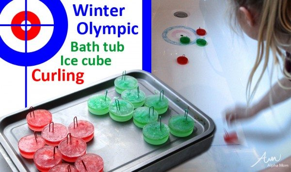 Winter Olympics Craft: Ice Cube Curling in your Bath