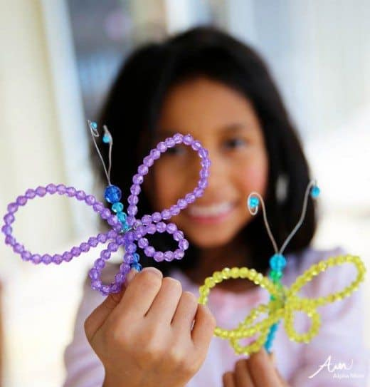 adorable beaded butterfly craft