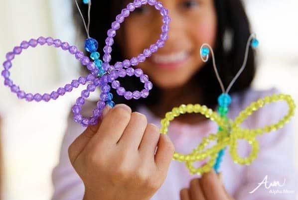 Beaded Butterflies Craft
