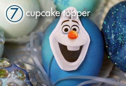 Frozen movie Easter Egg Decorating Ideas: cupcake topper