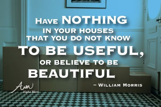 William Morris quote on decluttering