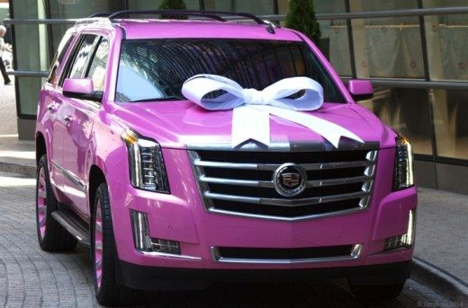 Teddy Bridgewater Pink Escalade for mom
