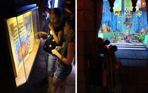 Walking through Sleeping Beauty Castle at Disneyland