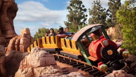 Big Thunder Mountain ride at Disneyland