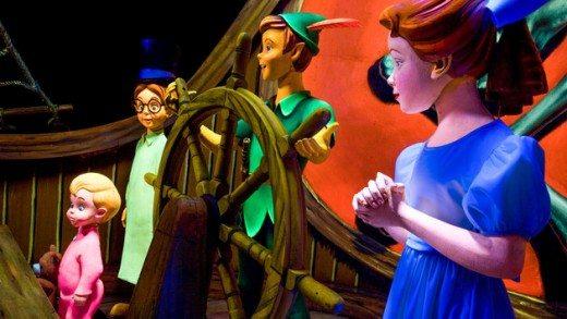 Peter Pan's Flight ride at Disneyland
