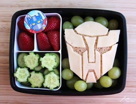 transformers bento box lunch alpha mom. Black Bedroom Furniture Sets. Home Design Ideas