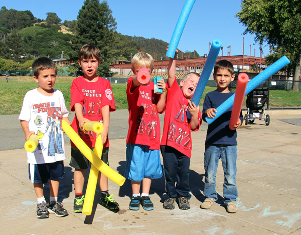Transformers Outdoor Celebration: Becoming Kindergartners
