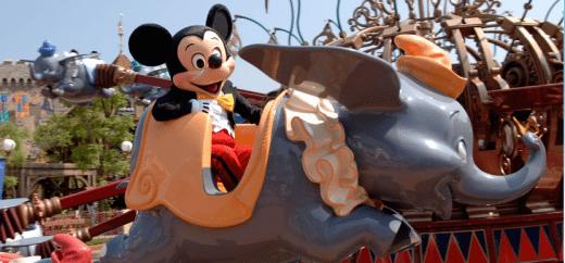 Dumbo's Flying Elephant ride at Disneyland