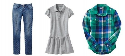 Best retailers for back to school kids 39 clothing alpha mom for Old navy school shirts