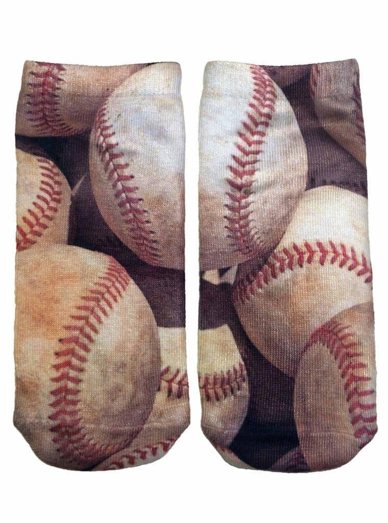 baseball printed socks