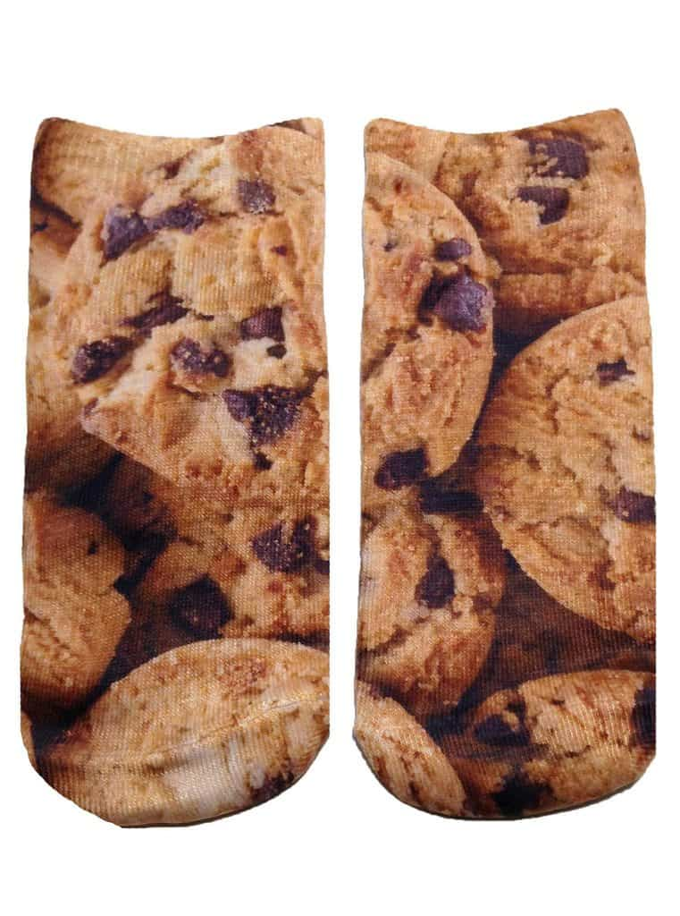 chocolate chip cookie printed socks