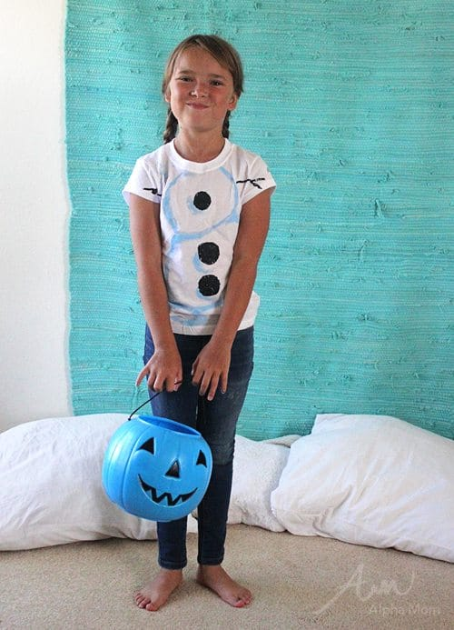 Olaf from Frozen: Halloween Costume Tutorial by Brenda Ponnay for Alphamom.com