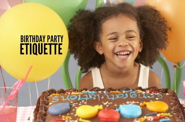 Birthday Party Gift Opening Etiquette