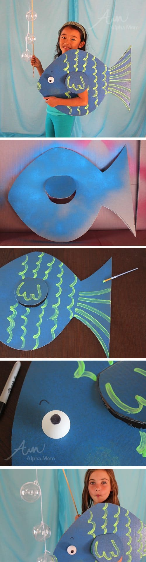 DIY Under the Sea Costumes: Fish! by Brenda Ponnay for Alphamom.com