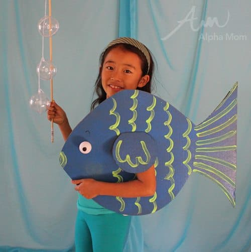 Kids' Fish Costume (from the DIY Under-the-Sea Costume Series) by Brenda Ponnay for Alphamom.com