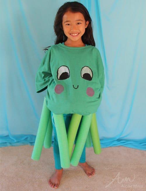 Le ragazze OCTOPUS Costume Bambini Scuola PRENOTARE SETTIMANA ABITO OCEANO MARE STORIA DEGLI ANIMALI