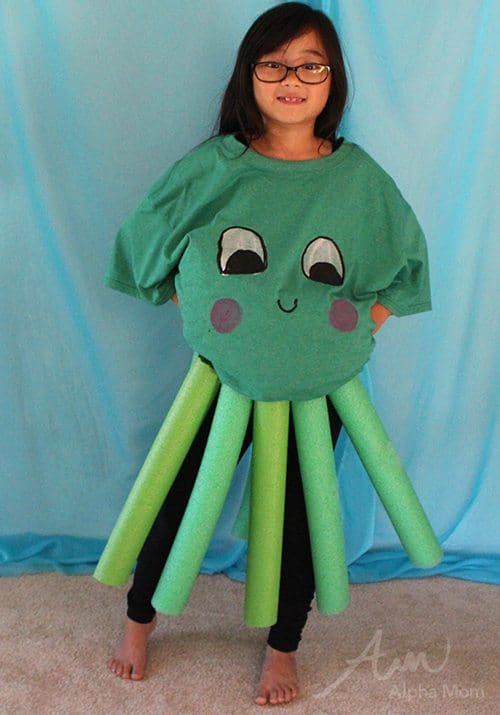 Kids' Octopus Costume (from the DIY Under-the-Sea Costume Series) by Brenda Ponnay for Alphamom.com