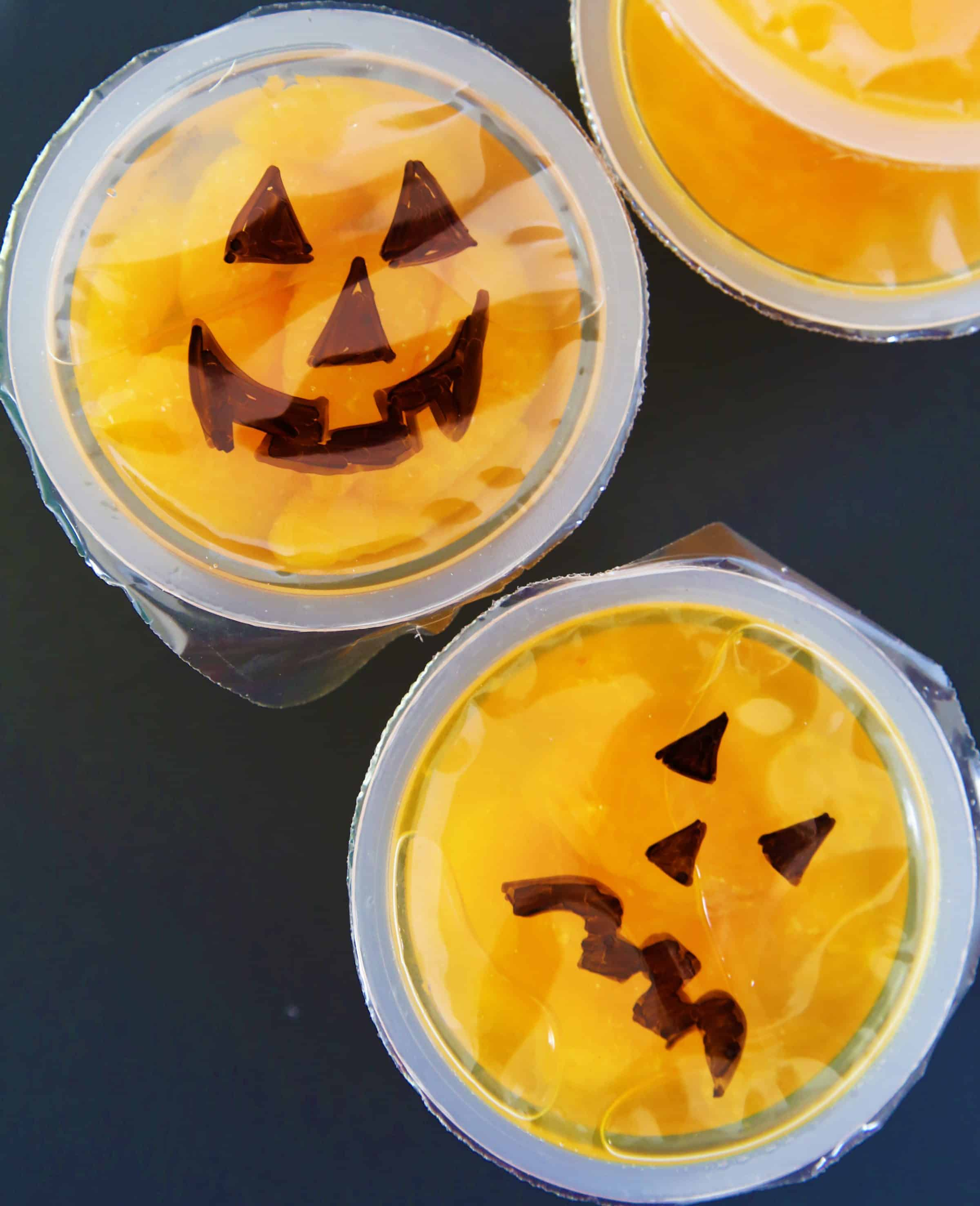 Jack O'Lantern Fruit Cups by Cindy Hopper for Alphamom.com