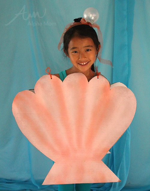 Kids' Sea Shell Costume (from the DIY Under-the-Sea Costume Series) by Brenda Ponnay for Alphamom.com