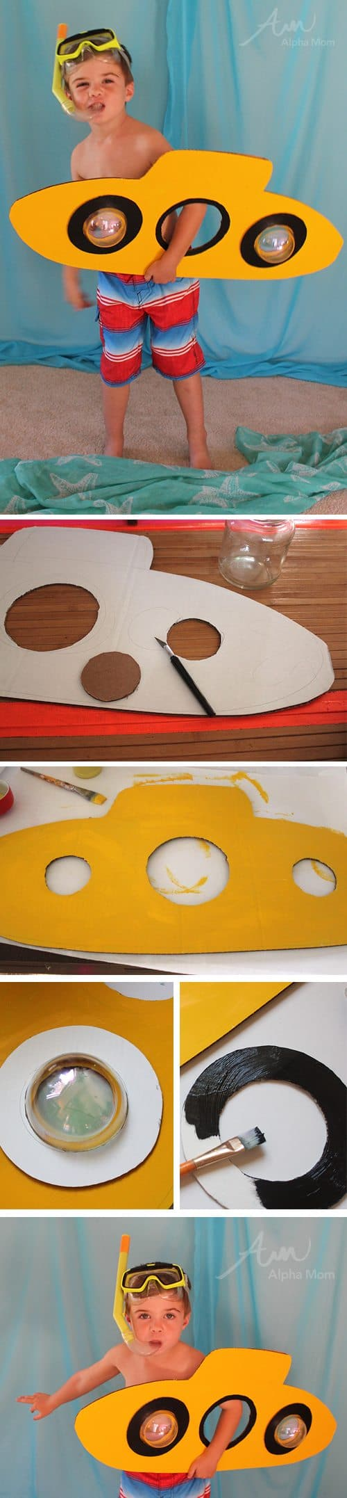 DIY Under-the-Sea Costumes: Submarine! by Brenda Ponnay for Alphamom.com
