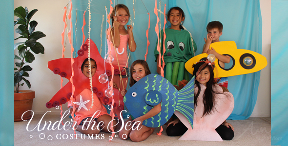 DIY Under-The-Sea Kids' Costumes for Halloween: Round up!